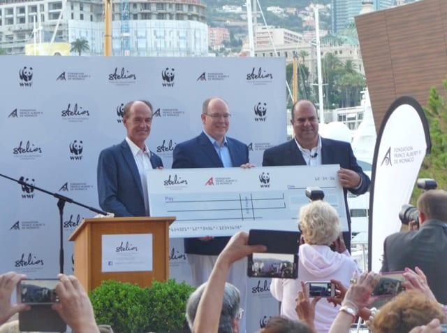 Marco Lambertini, Director General, WWF, HSH Prince Albert II, Sir Stelios Haji-Ioannou, Founder Stelios Philanthropic Foundation