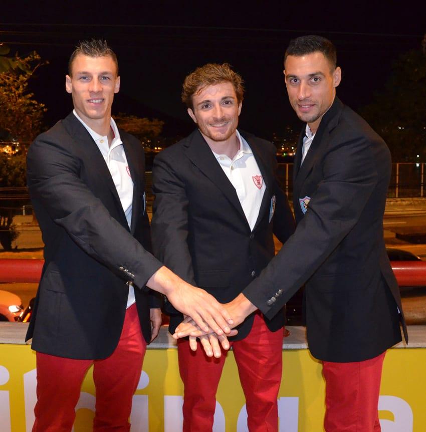 3 athletes