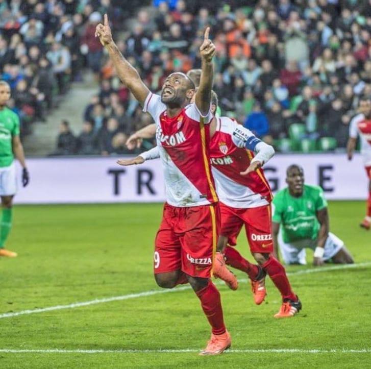 Striker Vagner Love joined AS Monaco in 2016. Photo: V. Love/AS Monaco