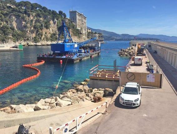Technical zone Port de Fontvieille. Photo: Direction de la Communication