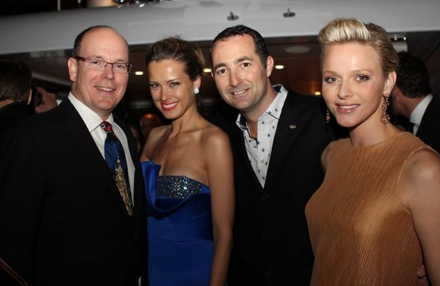 Nicholas Frankl with Prince ALbert and Princess Charlene