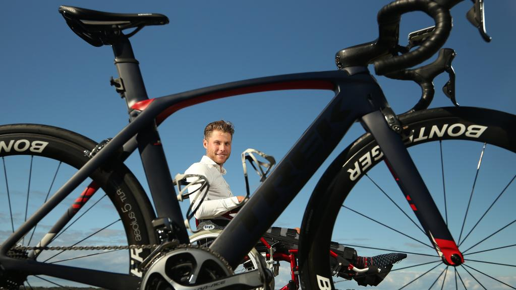 Tom Hill one month before London to Monaco Cycle for charity. Photo: Tom Hill/ Glenn Hampson.