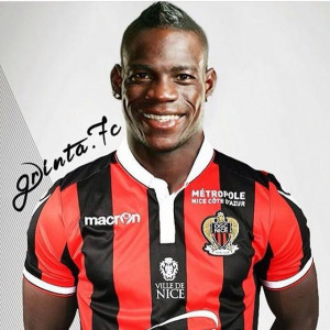 OGC Nice striker, Mario Balotelli. Photo: Facebook OGC Nice