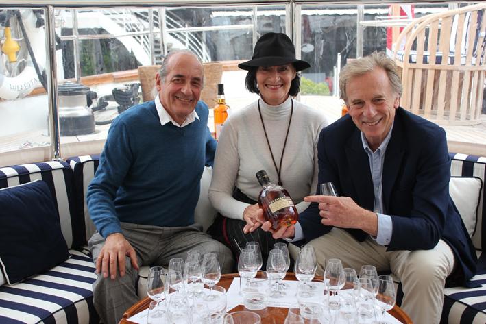 Dario and Anita Di Sotto with Ronnie Cox, Berry Bros & Rudd Brand Heritage Director, Spirits