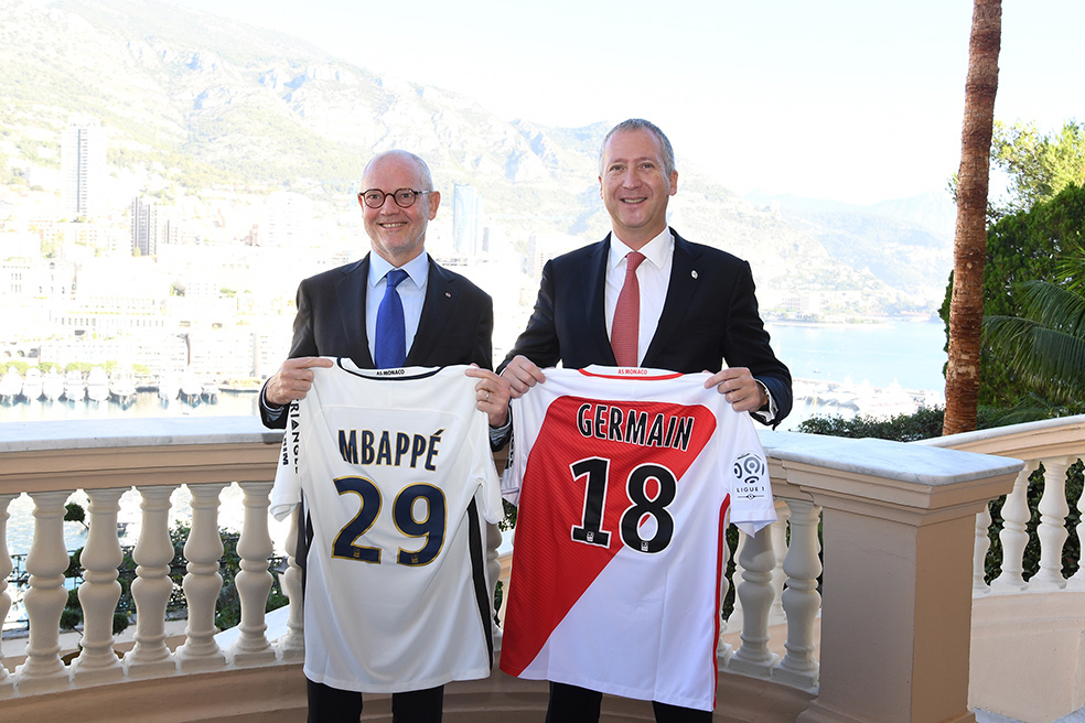HE Serge Telle, Minsiter of State, and Vadim Vasilyev, Deputy CEO of AS Monaco. ©Direction de la Communication/Manuel Vitali