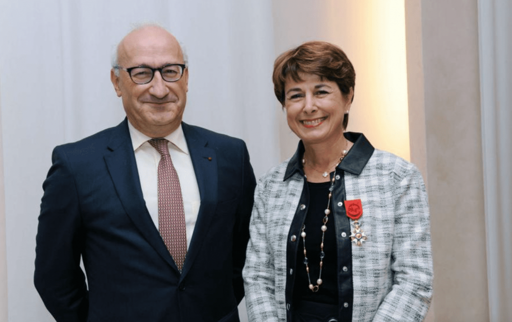 Mr Philippe Etienne, Ambassador of France in Germany, with Her Excellency Isabelle Berro-Amadei, Ambassador of Monaco to Berlin. Photo: DC