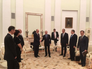 HSH Prince Albert with Russian President Vladimir Putin in Moscow Thursday