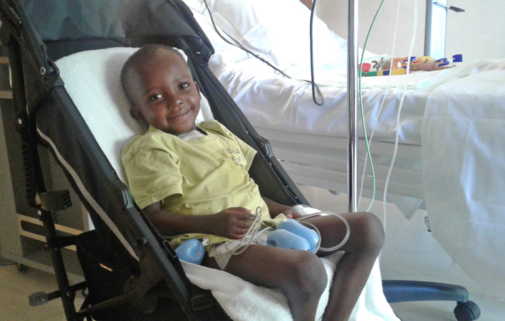 Ousmane, aged 3, at the Cardio-Thoracic Centre
