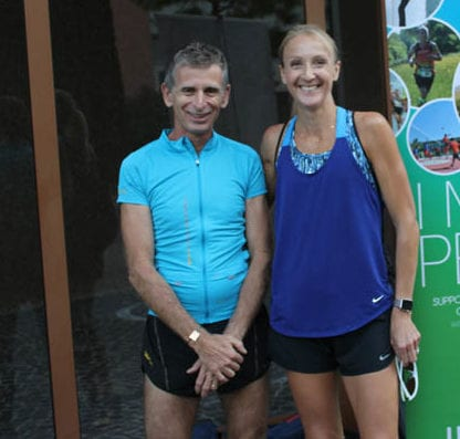 No Finish Line founder Philippe Verdier with Paula Radcliffe