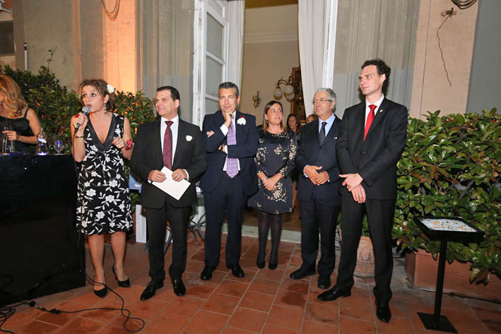 L-R: Mrs Gloria Zvezia, DTC Representative Office in Milan; Mr Massimo Michelis, Representative of Monte-Carlo Casino; Mariano Bruno, Honorary Consul of Monaco in Naples; Laurence Aquilina, Marketing DTC; SEM Robert Fillon, Monaco Ambassador in Italy; Guy Antognelli, Deputy Director of Tourism and Congress. Photo: © Marco Baldassare