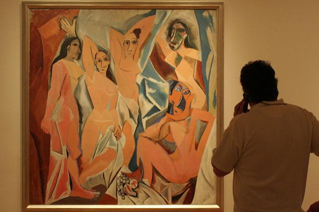 Picasso's Les Demoiselles d'Avignon. Photo: Pete