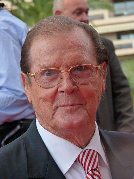 Roger Moore at the 2012 Monte-Carlo Television Festival. Photo: Frantogian