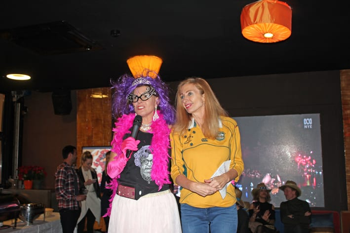 2017 Best Aussie Look Contest won by Jennifer Jacotine as Dame Edna. Photo: Monaco Life