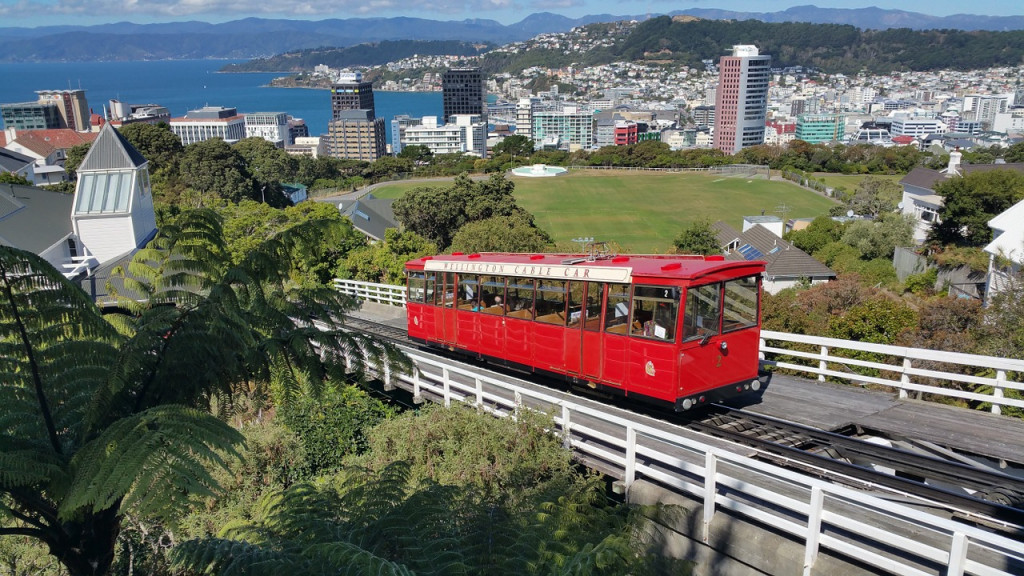 Cable car transport in Auckland, New Zealand