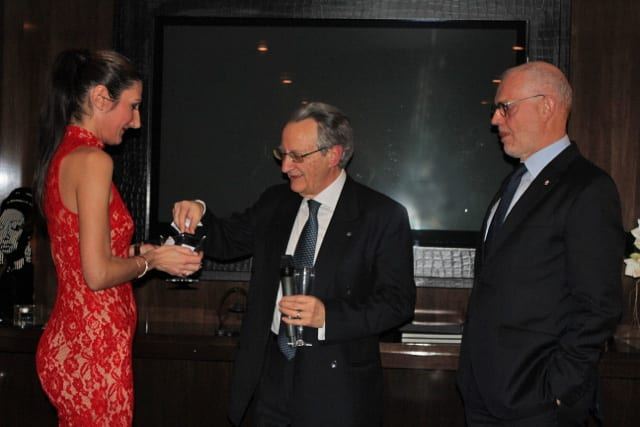 CERN's Walter Scandale draws names in the presence of Minister of State