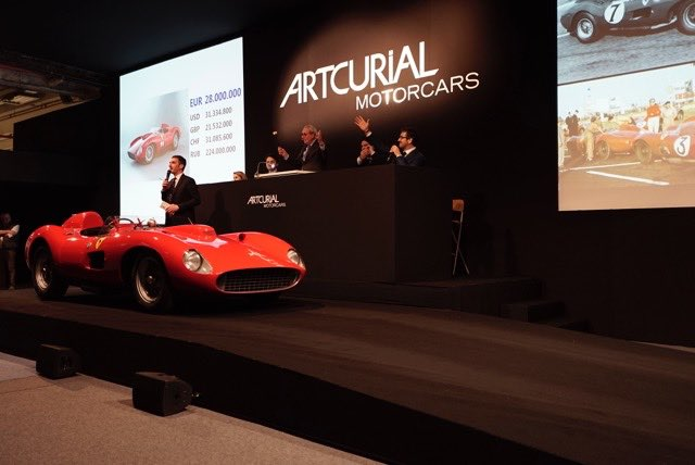 Top price ever paid for a Ferrari was for a 1957 Ferrari 335 S Spider Scaglietti