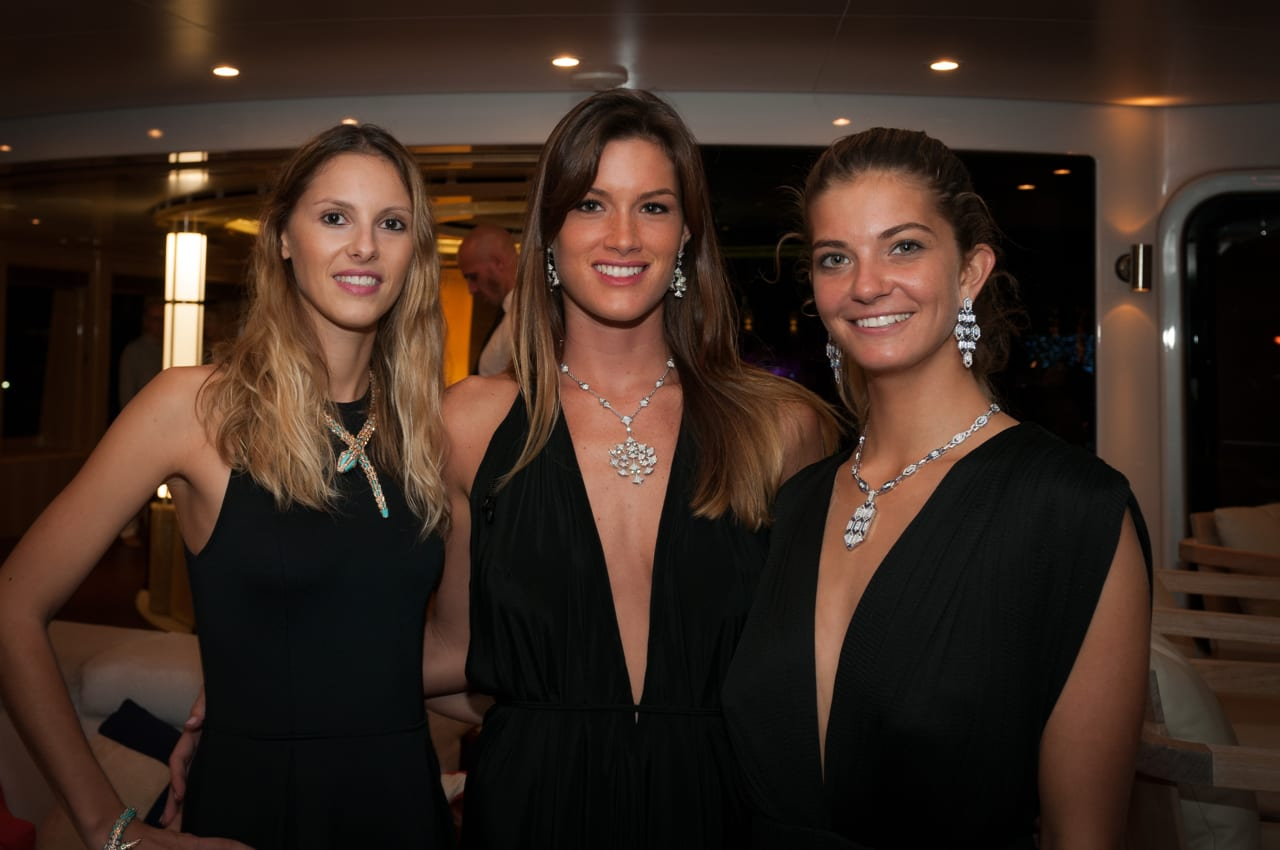 Bvlgari Models showcased a selection of jewellery