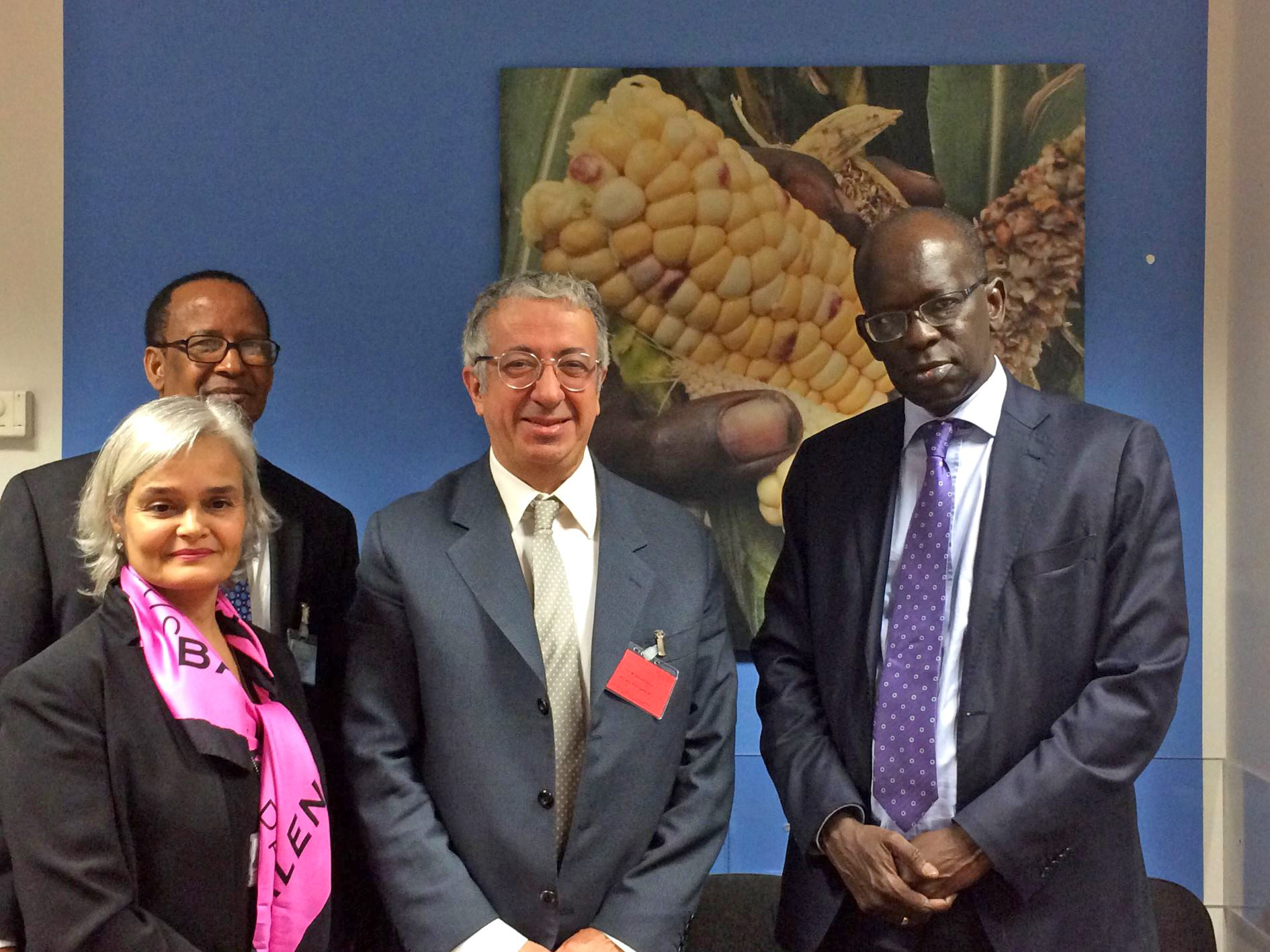 Ms Martine Garcia, Deputy Alternate Representative to FAO and WFP, Mr Abdoulaye Balde, WFP Country Director for Cameroon and Sao Tome and Principe, HE Mr Robert Fillon, Ambassador of the Principality of Monaco in Italy, Permanent Representative to FAO and WFP, Mr Abdou Dieng, WFP Regional Director for Central and Western Africa. Photo: DC