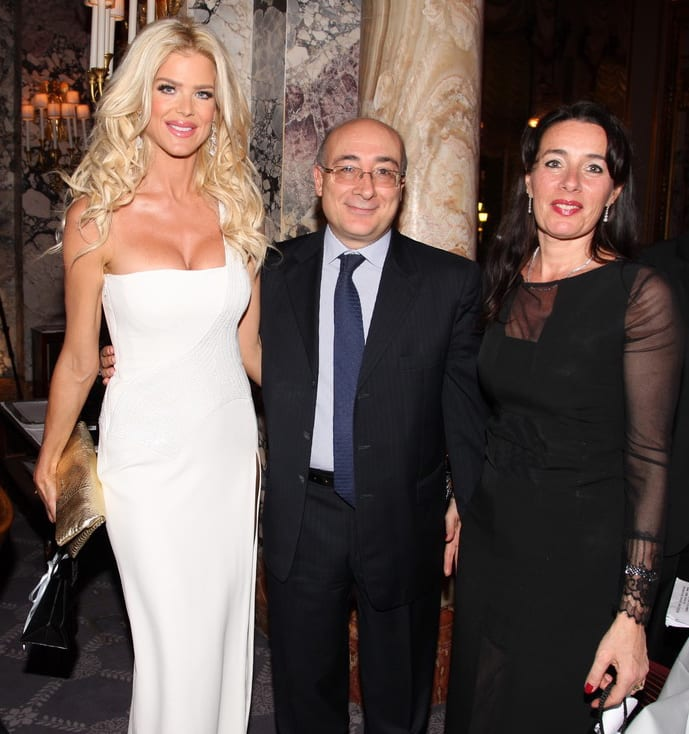 Victoria Silvstedt with HE Cristiano Gallo, Ambassador of Italy in Monaco, and his wife.