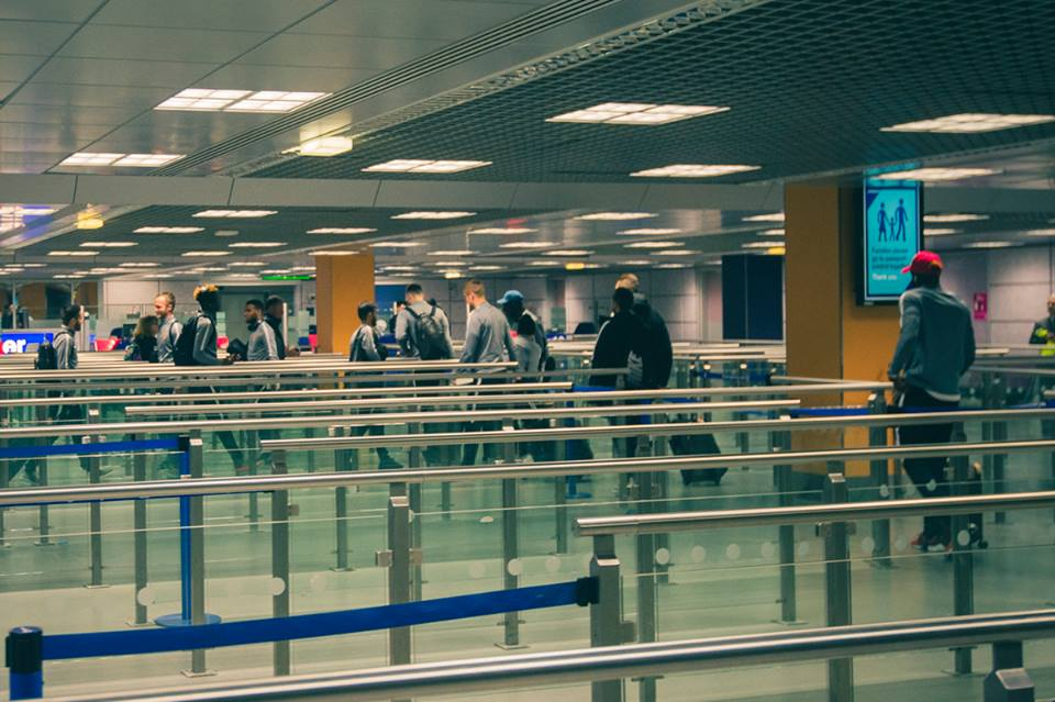 AS Monaco at airport. Photo: Facebook AS Monaco