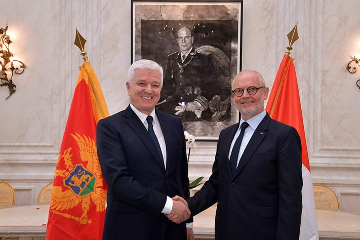 Dusko Markovic, Prime Minister of Montenegro and Serge Telle, Minister of State. Photo: Charly Gallo/DC
