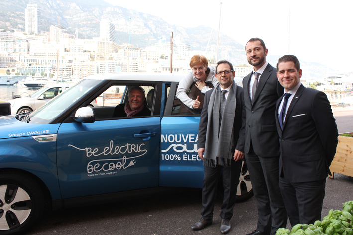SNB's Didier Rubiolo and Kate Powers with KIA Motors reps