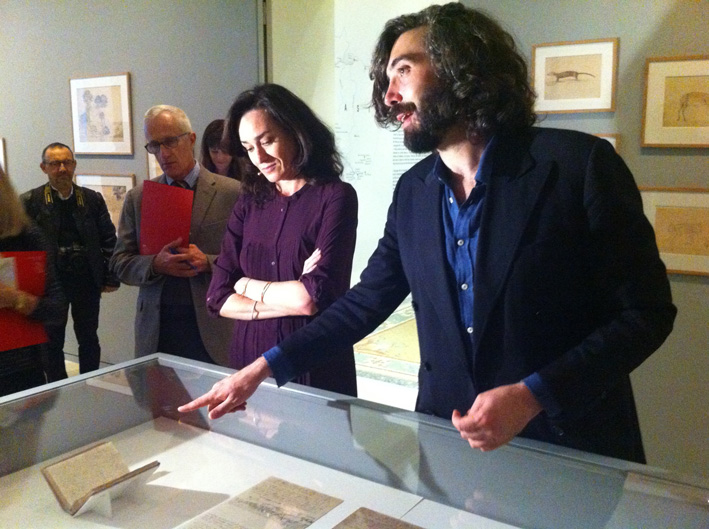 Curators Linda Fregni Nagler and Cristiano Raimondi