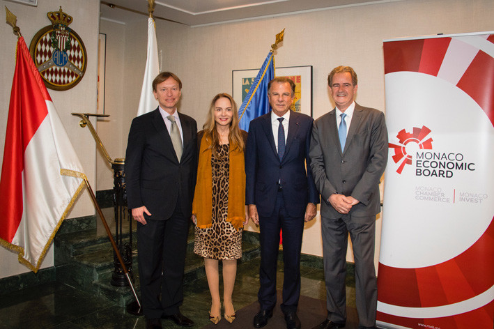 L-R: Ivan Orlic, Ambassador of Bosnia and Herzegovina to Monaco; Donatella Campioni, Honorary Consul of Bosnia and Herzegovina in Monaco; Michel Dotta, President of the Monaco Economic Board; Gordan Milinic, Director of the Agency for the Promotion of Foreign Investment in Bosnia and Herzegovina.