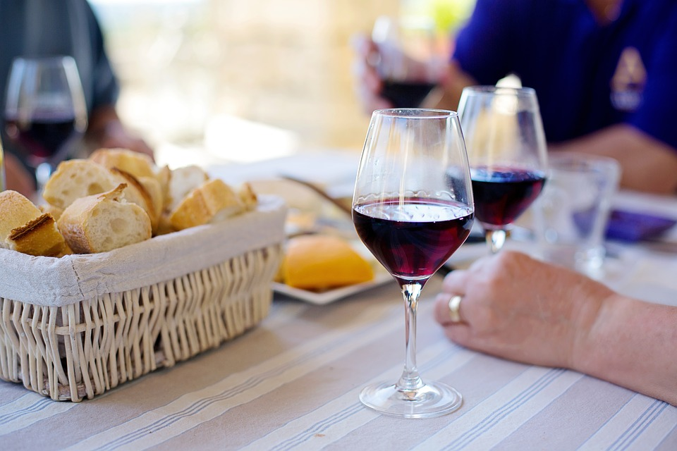 Wine Baguettes Red Wine French Drink France Bread