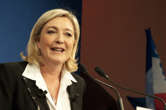 Marine Le Pen, President Front National. Photo: Global Panorama