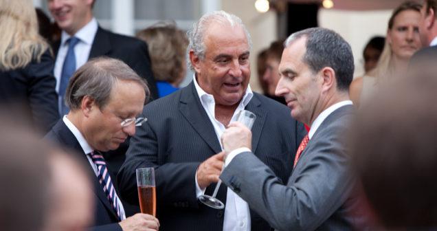Photo: Sir Philip Green, Chairman, Arcadia Group (Centre); Chris Grigg, CEO, British Land (R). Photo: Financial Times