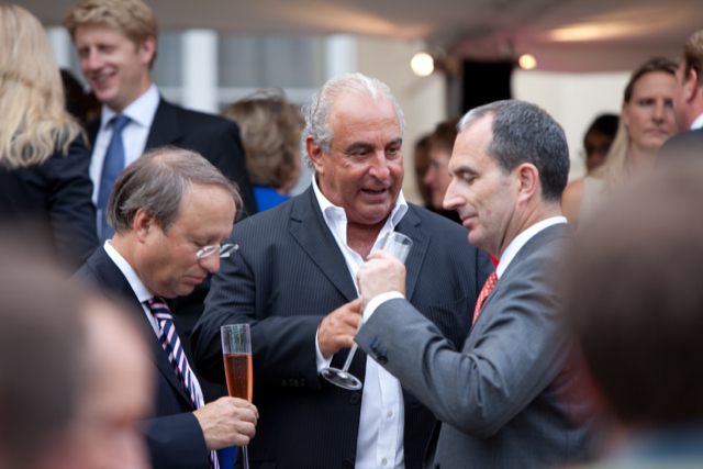 Photo: Sir Philip Green, Chairman, Arcadia Group (Centre); Chris Grigg, CEO, British Land (R). Photo: Financial Times