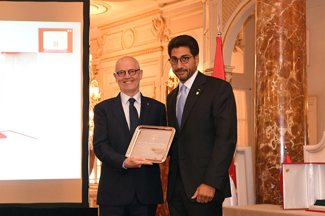 Serge Telle, Minister of State and Moustapha El-Solh Honorary Consul of Lebanon, President of ACHM. Photo: © Manuel Vitali/Communication Directorate