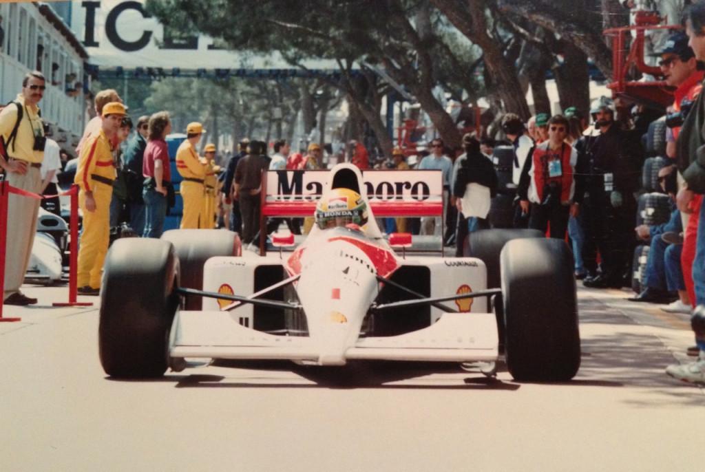 Ayrton in the pit lane
