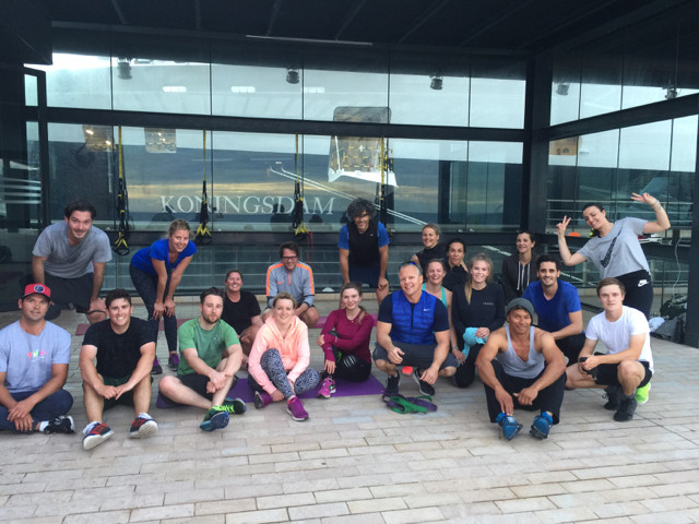 BOOST camp workouts are on the Monaco Port Digue, Level 2, past Stars'n'Bars