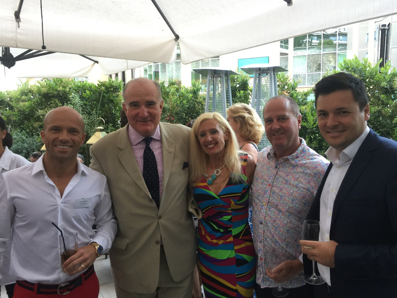 Hugh Wade-Jones, Richard Moir, and Beverly and Brian Holt, and Laurent Natta, Executive Director, Relationship Manager Julius Baer Wealth Management Monaco