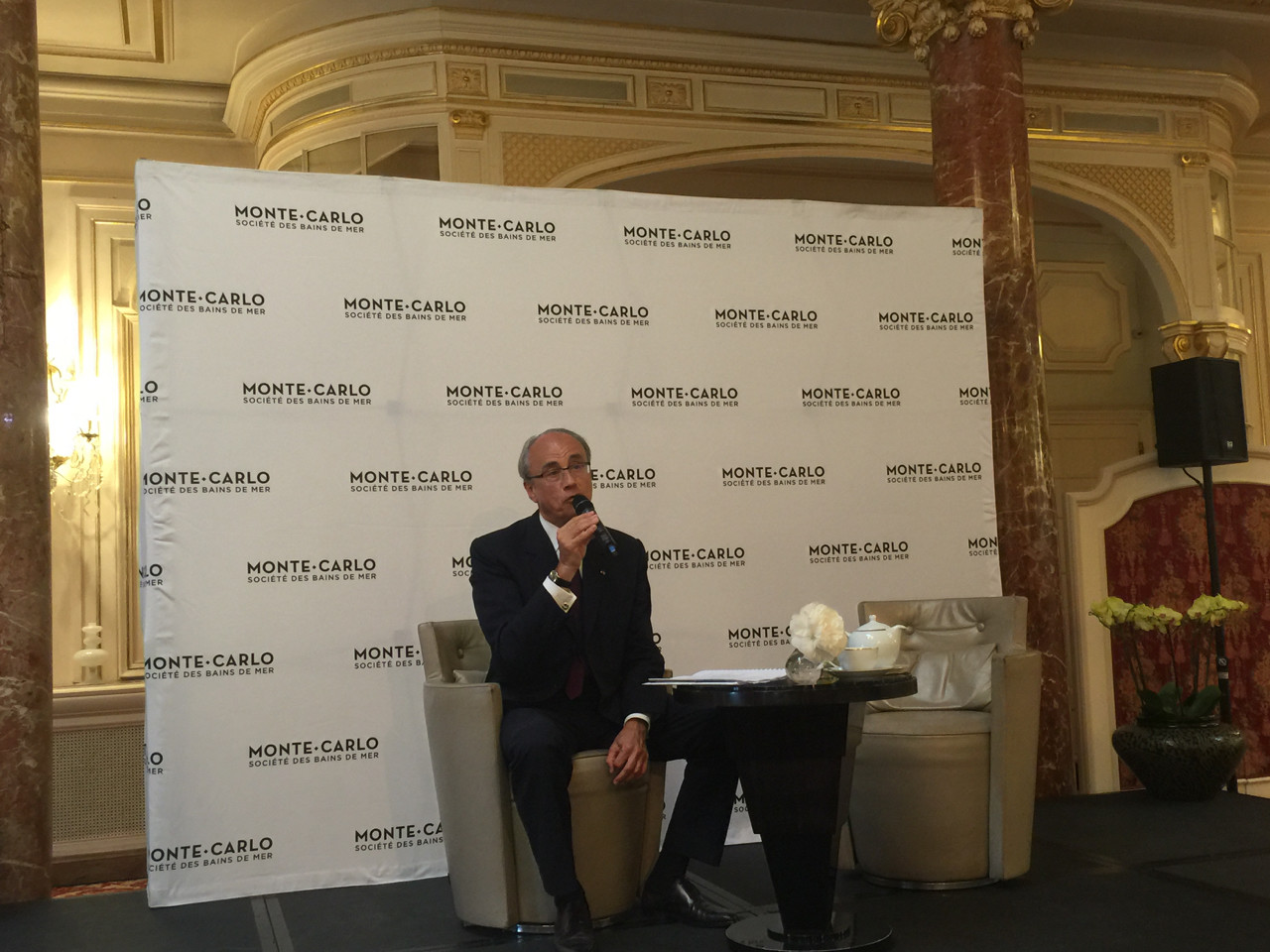 SBM's CEO Jean-Luc Biamonti