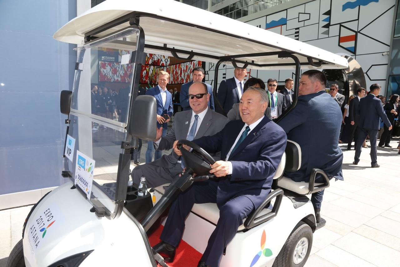 Prince Albert and Noursoultan Nazarbaïev, Presidentet of the Republic of Kazakhstan. Photo: Frédéric Nebinger