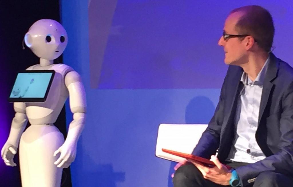 Pepper the Robot. Photo: Twitter: Sophie Gillardeau