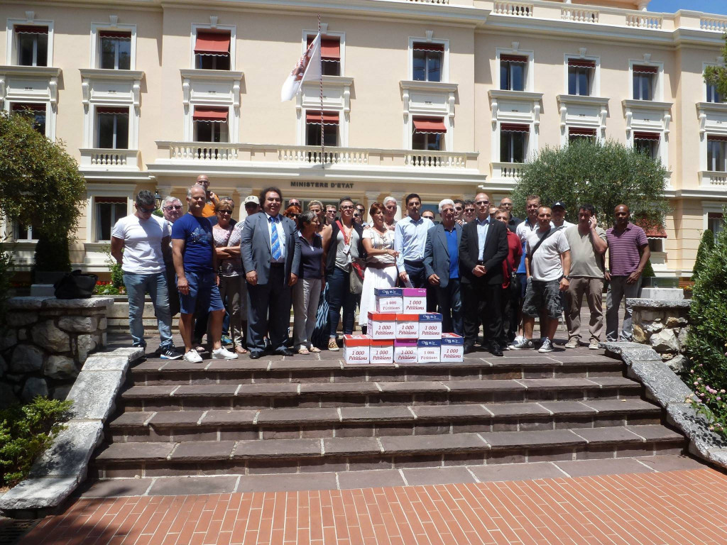 Interprofessional strike June 22, 2017. Photo: Facebook Union des Syndicats de Monaco