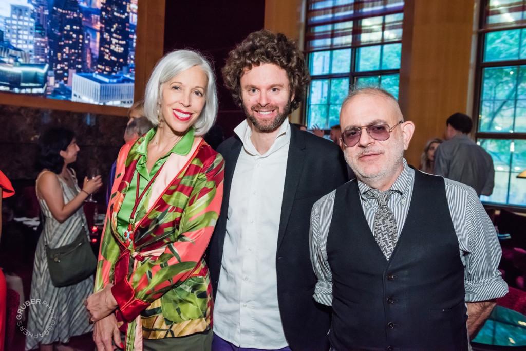 Benjamin Shine with Linda and David Hoey, Senior Director of Visual Presentations at Bergdorf Goodman