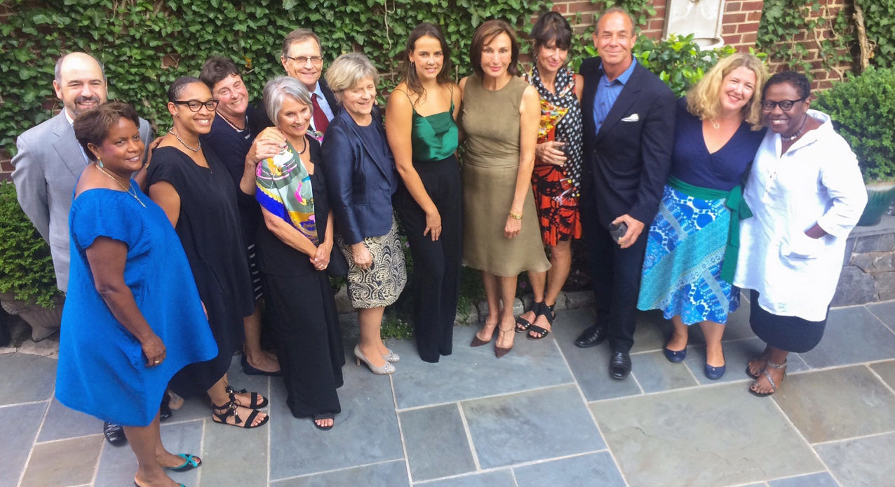 L-R: Alicia Adams (Vice President, International Programming and Dance, John F. Kennedy Center), Dr Michael Atwood Mason (Director, Smithsonian Center for Folklife and Cultural Heritage), Paula Murphy (Executive Vice-President, UniverSoul Circus), Deborah Walk (Curator Ringling Circus Museum), Suzanne Huey and Dr Rodney Huey (Councilors for the World Circus Federation), Zsuzsanna Mata (Executive Director of the World Circus Federation), Pauline Ducruet (President of the New Generation Festival Jury), HE Maguy Maccario Doyle (Ambassador of Monaco to the United States), Betty Butler and Dan Butler (Artistic Director and Executive Director, Circus Juventas), Jennifer Lemmer Posey (Associate Curator, Ringling Circus Museum) and Sabrina Lynn Motley (Director, Smithsonian Folklife Festival). Photo: ©DR