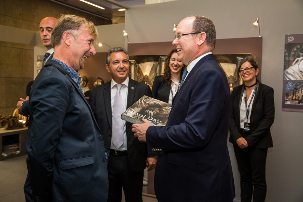 Paul Day with Prince Albert at Top Marques 2017