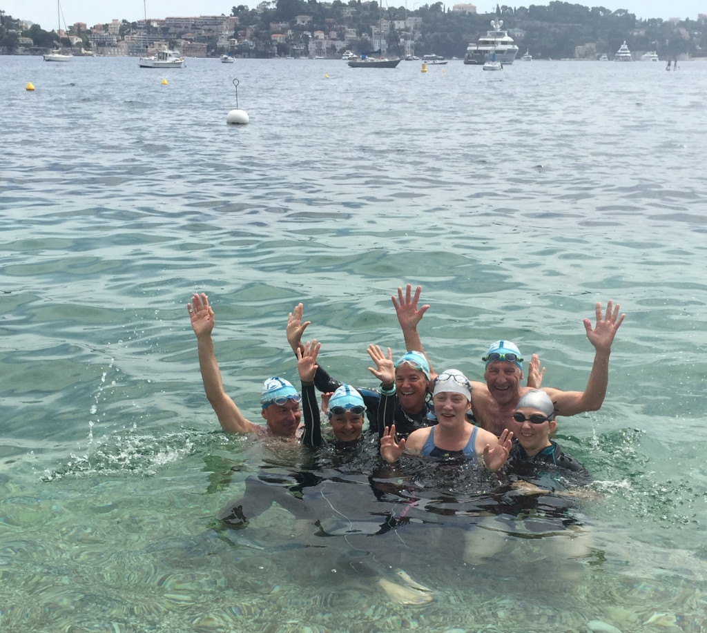 Swim the Rivera group in Villefranche