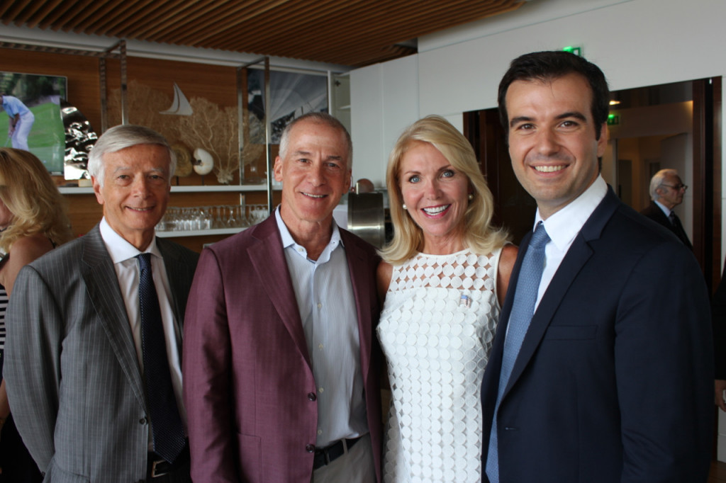 Michel Bouquier, Head of Monaco Private Label and Senior Advisor at the Ministry of Finance and Economy, Eric Brundage, Publisher of Monaco Life, Susan Feaster Chairman of the Monaco US Celebrity Ryder Cup and Fabrice Marquet, Director Fabrice Marquet Director MonacoTech Incubator and Accelerator Program