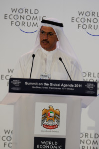 Sultan Bin Saeed AlMansoori at Summit on the Global Agenda 2011. Photo:World Economic Forum/Norbert Schiller
