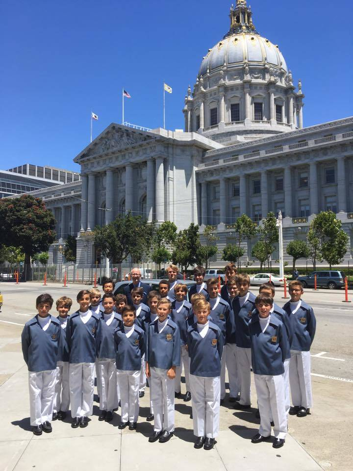 San Francisco City Hall concert on the occasion of the French National Day (Bastille Day). Photo: Facebook Les Petits Chanteurs de Monaco