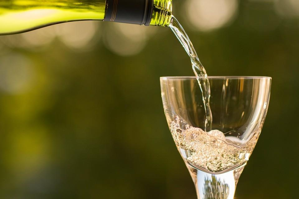 Champagne Bottle Drinking Glass Macro Drink