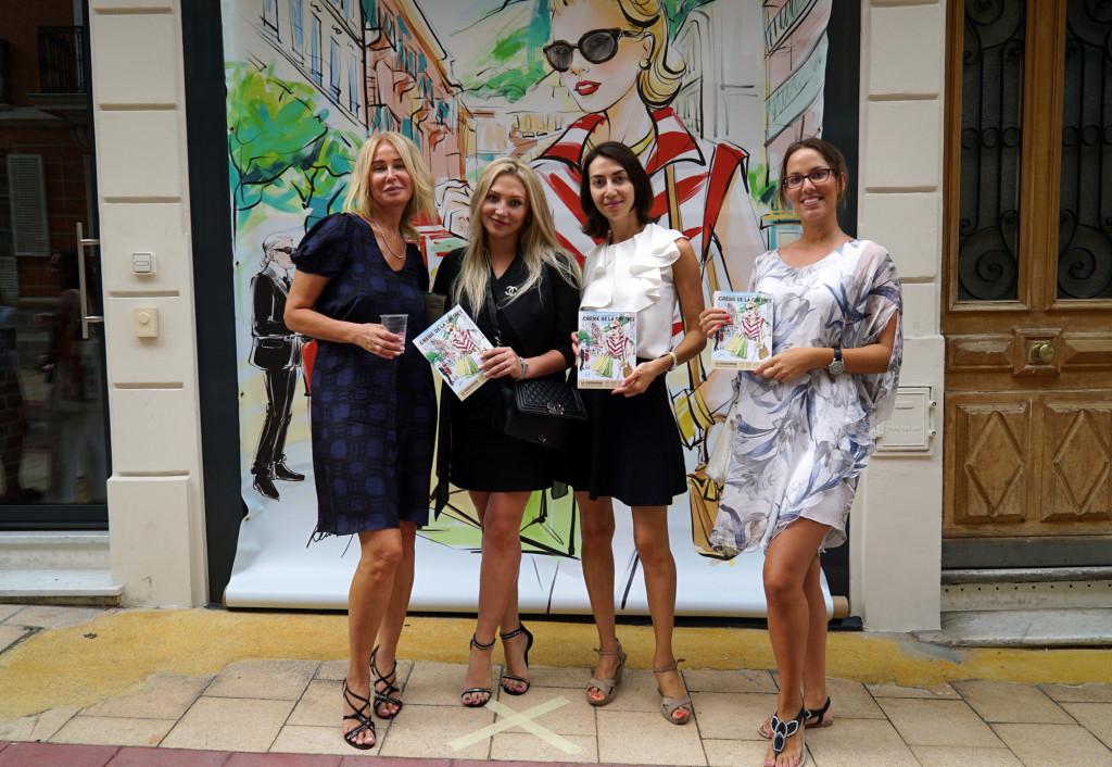 Eva Roje, Olga Barrale, IliyanPopova andTina-Lyberaki at Monaco Shopping Guide Creme de la Creme: La Condamine launch