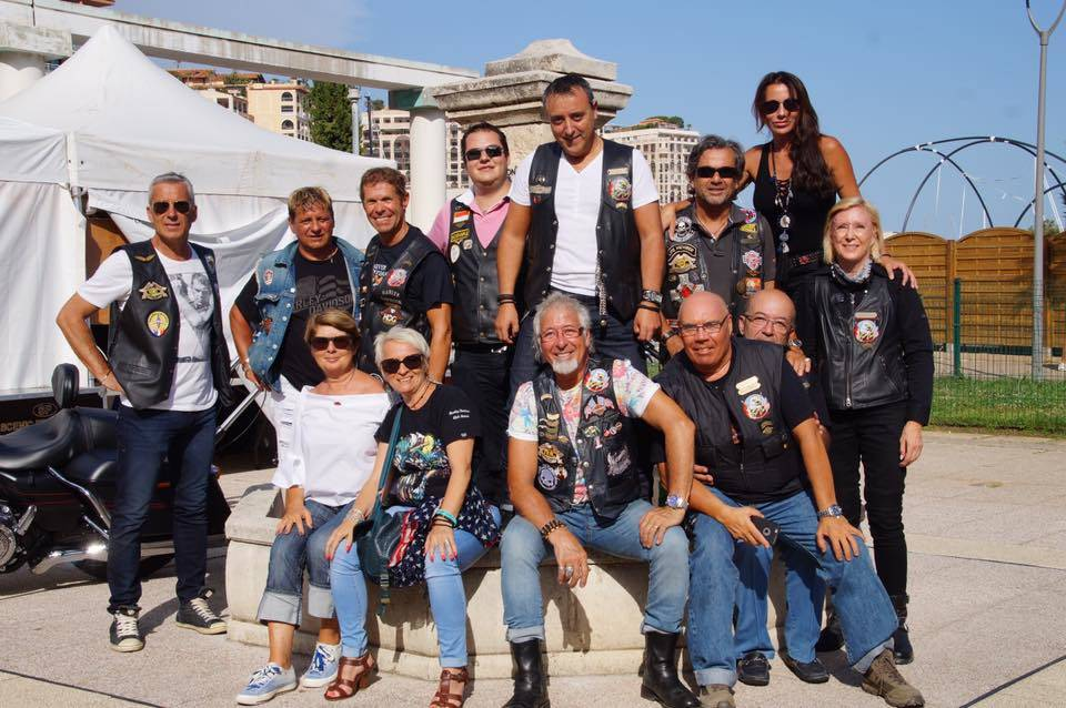Harley Davidson Club of Monaco with Dominique Lucas Impala, Gilles Giovanelli, Jacques Pastor, Olivier Cucu, Spedee Gonzales, Jean Aimare and Dominique Kindermann.